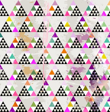 hue: abstract geometric pattern background, with triangles, strokes and splashes Illustration