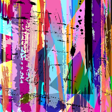 canvas art: abstract background, with strokes, splashes and geometric lines