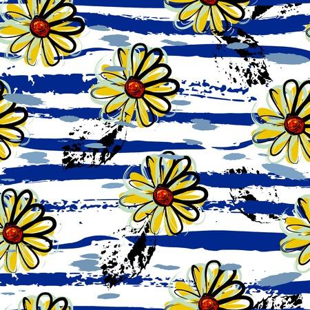textil: floral fondo sin patrón, con movimientos, flores de primavera
