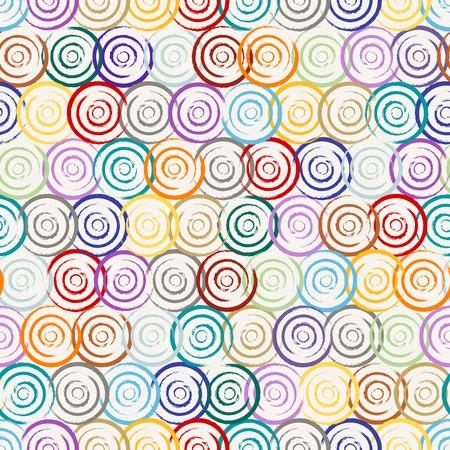 motif de fond sans soudure, avec des cercles et coups Vecteurs