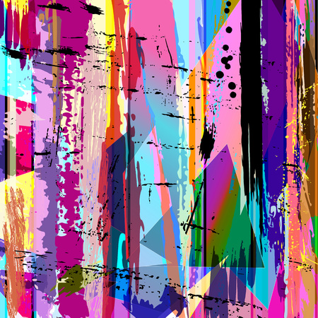pink wallpaper: abstract background, with strokes, splashes and geometric lines