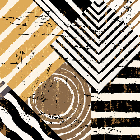 paint strokes: abstract background pattern, with stripes, circles, paint strokes and splashes Illustration