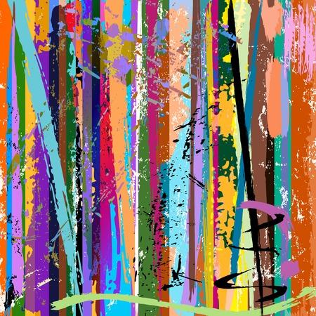pintura abstracta: resumen de antecedentes, con trazos de pintura y salpicaduras, Vectores