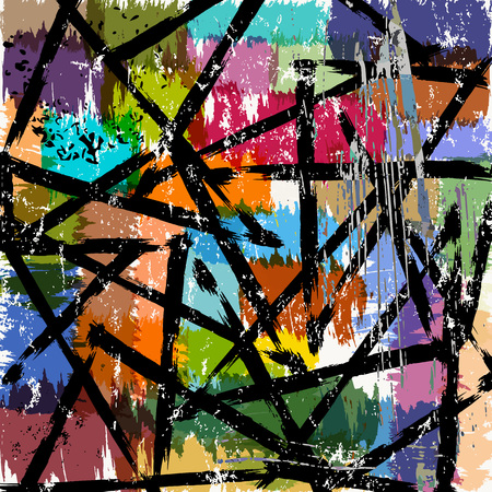 paint strokes: abstract background illustration, with triangles, paint strokes and splashes