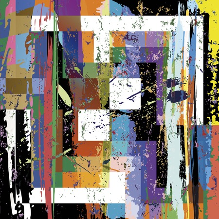 canvas art: abstract background, with paint strokes, splashes, stripes and squares