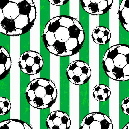 seamless background pattern, with soccer / football, paint strokes and splashes
