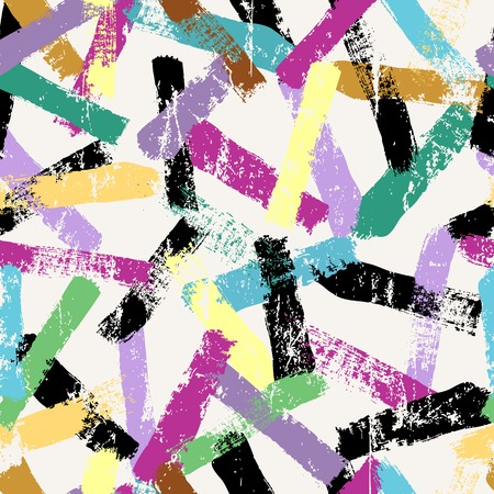 painting on the wall: seamless pattern background, with paint strokes and splashes, grungy
