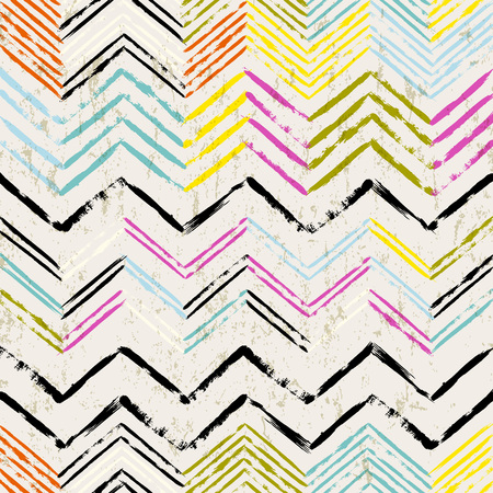 abstract background, with strokes and splashes, zigzag pattern, seamless Vettoriali