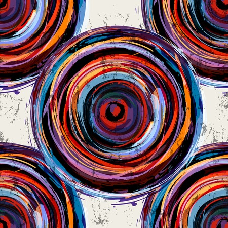 bright paintings: abstract background pattern, with circles, strokes and splashes