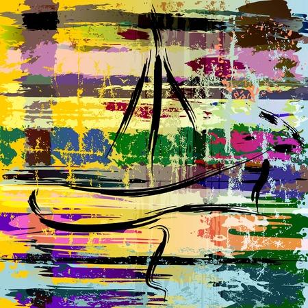 abstracte achtergrond samenstelling, met verf streken en spatten