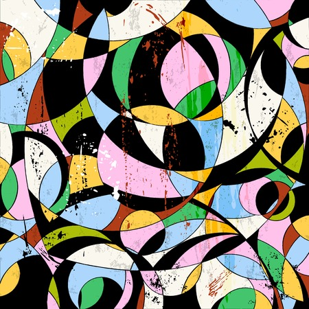 circle abstract: abstract circle background, retrovintage style with paint strokes and splashes