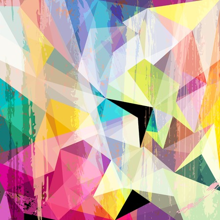 abstract background composition, with strokes, splashes and triangles Stok Fotoğraf - 66668311