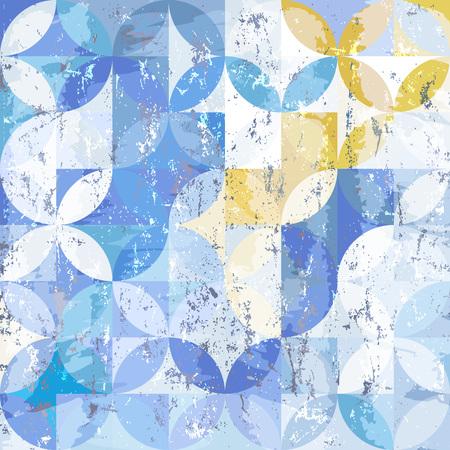 Abstrakte geometrische Hintergrundmuster, Retro / Vintage-Stil, mit Kreisen, Strichen und Spritzer Standard-Bild - 82365723