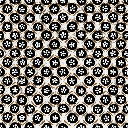 seamless background pattern, with circlesdots, strokes and splashes, black and white