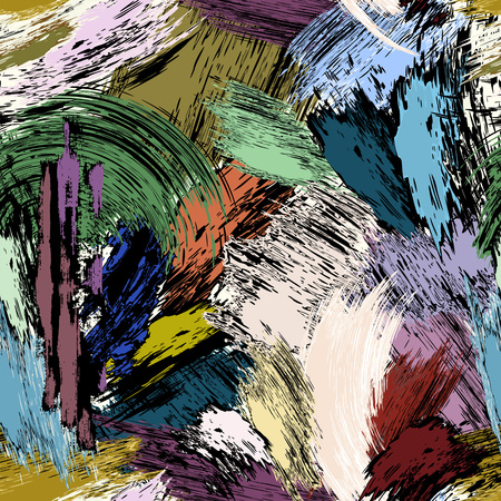 abstract background composition, with paint strokes, seamless