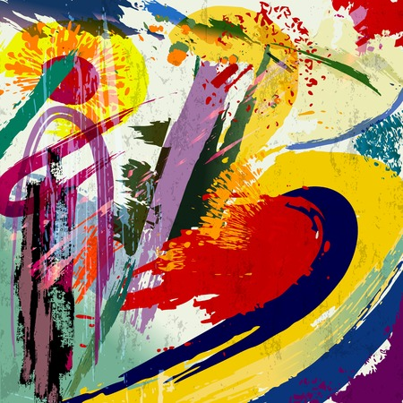 Abstract background composition, with paint strokes and splashes.