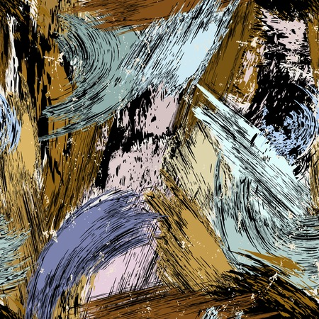 Abstract background composition, with paint strokes and splashes, seamless.