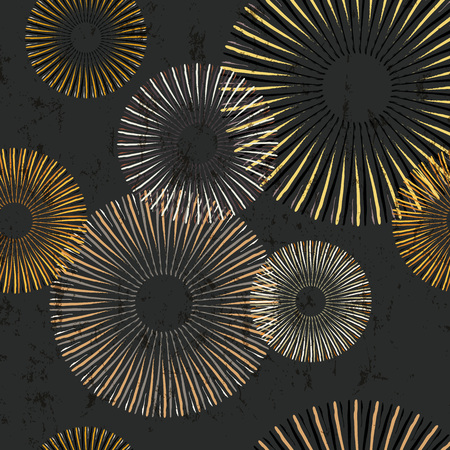Seamless pattern background, with circles, strokes and splashes, grungy Illustration