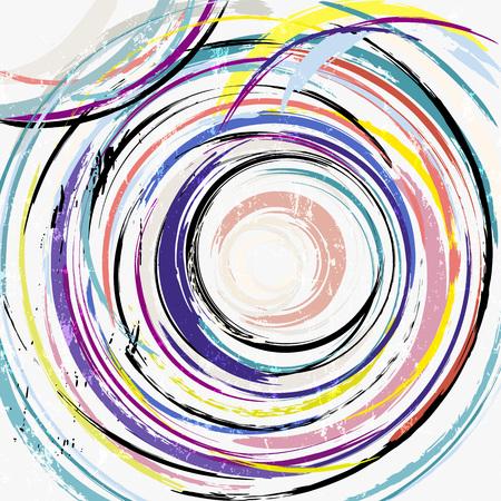 abstrakter geometrischer Kreishintergrund, mit Strichen und Spritzern Vektorgrafik