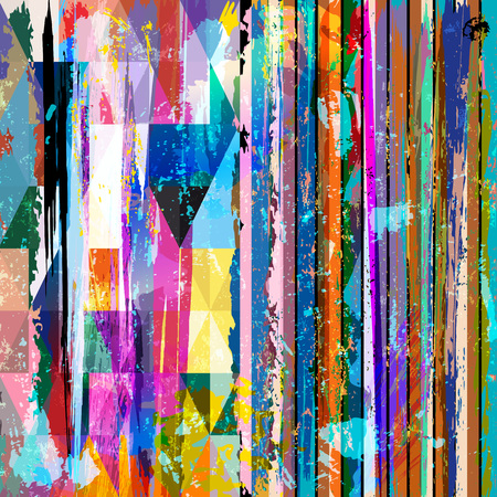 abstract background composition, with stripes, triangles, strokes and splashes