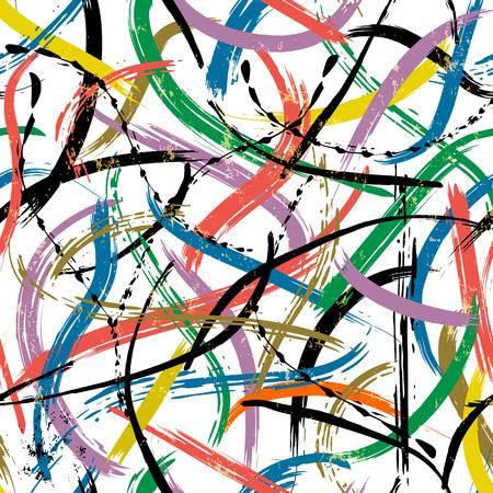 Composición de fondo abstracto sin fisuras, con trazos de pintura y salpicaduras