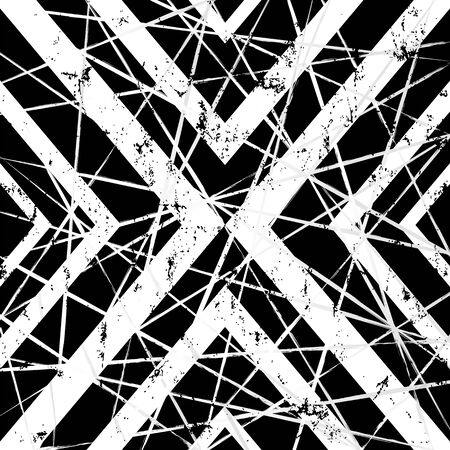 Abstract geometric  pattern with triangle, lines, strokes and splashes, black and white