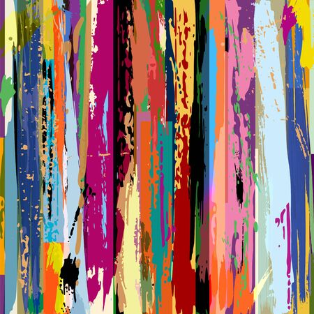 Abstract background, composition with stripes, strokes and splashes Vettoriali