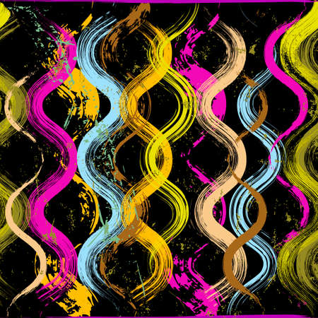 seamless pattern background, with waves, paint strokes and splashes, grungy