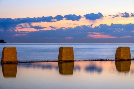 Coogee pool at dawn, NSW, Australia