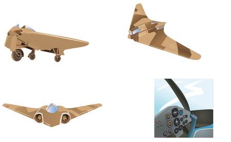 hitler: ho-229,Hitler Military Plane, World War II,