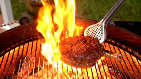 steaks on shot with selective focus Juicy medium Beef