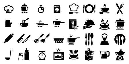 Cooking and kitchen icons Vector