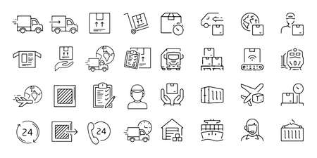 Logistic Warehouse Delivery Icon On White Background