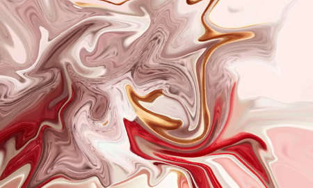 Hand painted background with mixed liquid Abstract fluid acrylic painting