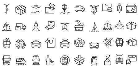 Transport vector icons set Vector illustration design