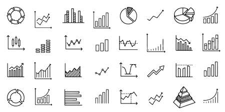 Growth Graph icon set Vector illustration 向量圖像