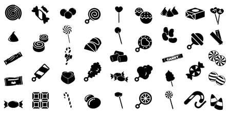 candy icon set Vector illustration