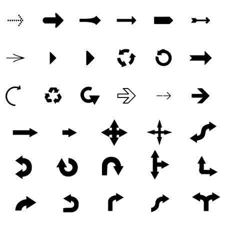 Arrows vector collection on a white background