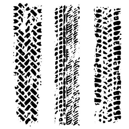 black tire track with background vector illustration Vettoriali