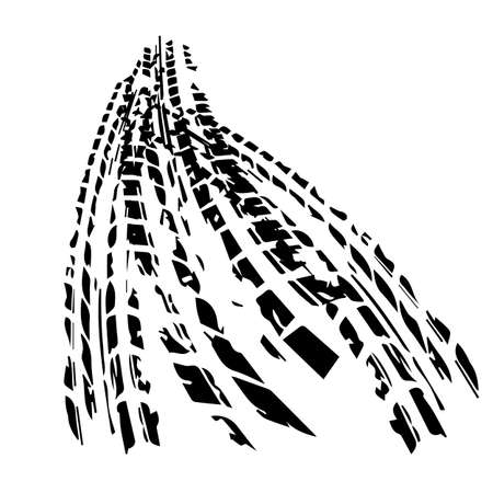 black tire track with background vector illustration 向量圖像