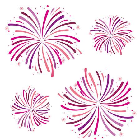 Vector illustration of a festive fireworks for holiday and celebration background design