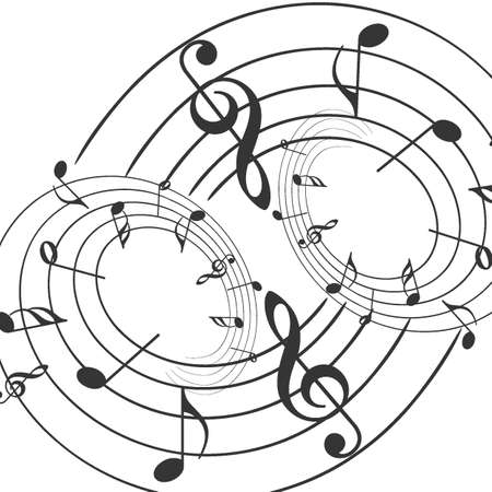 Music notes musical notes White background - Vector illustrator