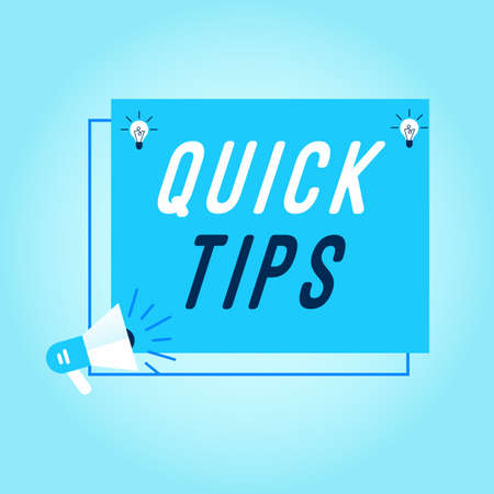 Quick tips Colorful banner Vector illustrator