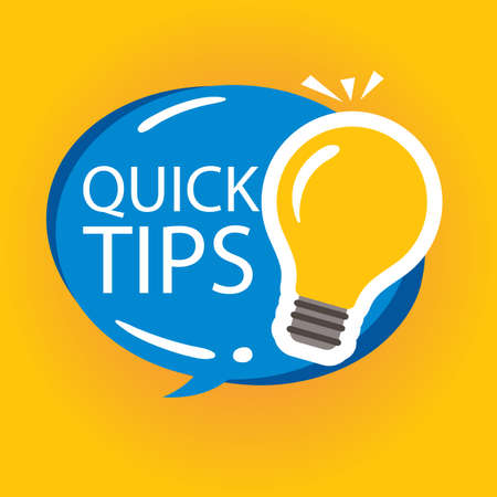 Quick Tips sign over watercolor art brush stroke paint Vector