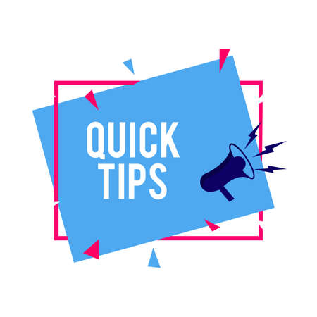 Quick tips Modern helpful tips Vector illustration