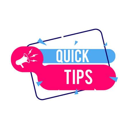 Quick tips Modern helpful tips Vector illustration