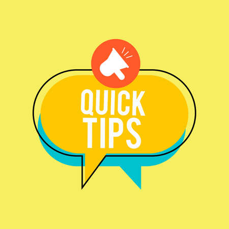 Quick tips Modern helpful tips banner Vector illustration Illustration