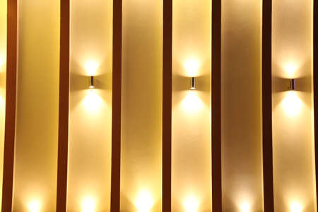 Beautiful group of modern wall lamp interior contemporary decoration background Banque d'images