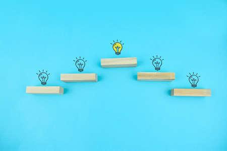 Business idea and progress concept 写真素材