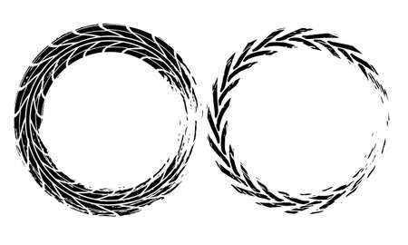 Tire tracks marks background in black and white style Vector
